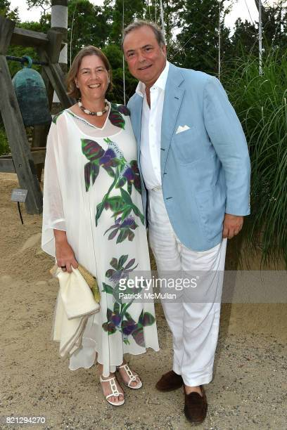 Ariadne CalvoPlatero and Mario CalvoPlatero attend Boom The Cosmic LongHouse Benefit at LongHouse Reserve on July 22 2017 in East Hampton New York