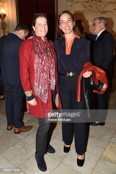 Ariadne CalvoPlatero and Patricia FarmanFarmaian attend Teaching Matters 10th Annual Champions Of Education Luncheon at Metropolitan Club on October...
