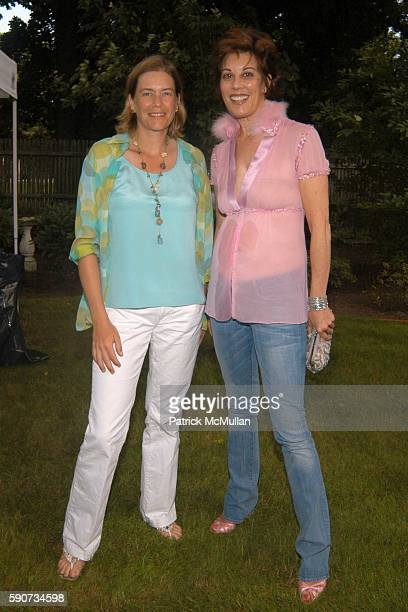 Ariadne CalvoPlatero and Peggy Siegal attend Bettina Zilkha party for Kathy and Rick Hilton at Southampton on July 29 2005