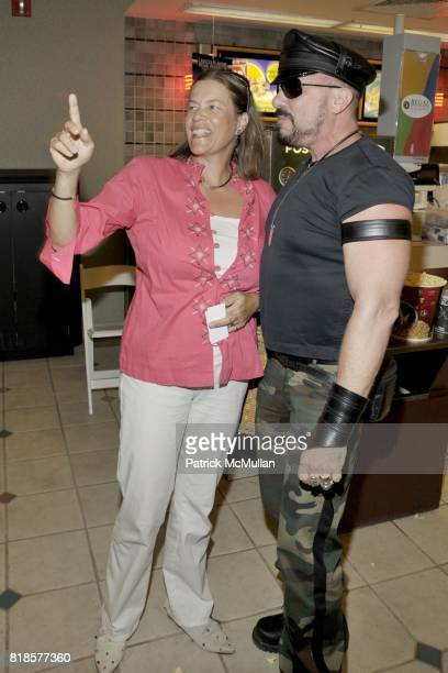 Ariadne CalvoPlatero and Peter Marino attend WAITING FOR SUPERMAN Screening and Dinner at UA Southampton and Private Residence on August 29 2010 in...