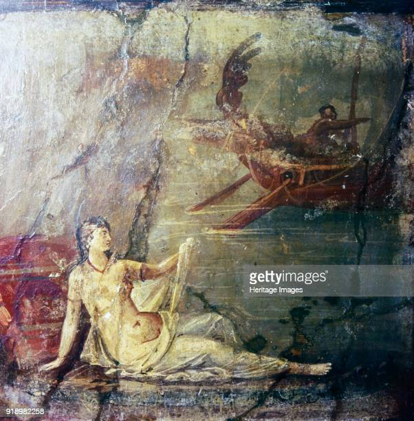 Ariadne Deserted by Theseus Roman wall painting from Herculaneum 1st century Ariadne on the shores of Naxos British Museum Artist Unknown