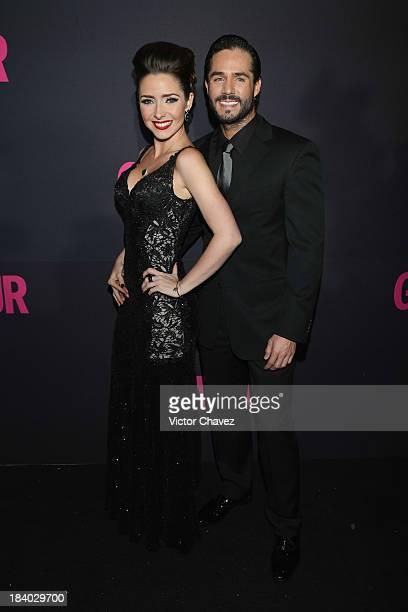 Ariadne Diaz and Jose Ron attend the Glamour Magazine 15th Anniversary at Casino Del Bosque on October 10 2013 in Mexico City Mexico