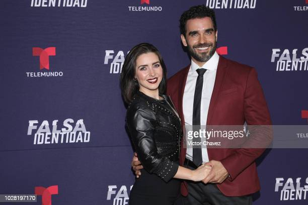 Ariadne Diaz and Marcus Ornellas attend 'Falsa Identidad' Telemundo series premiere at Argos Comunicacion on September 6 2018 in Mexico City Mexico