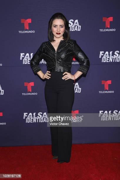 Ariadne Diaz attends 'Falsa Identidad' Telemundo series premiere at Argos Comunicacion on September 6 2018 in Mexico City Mexico
