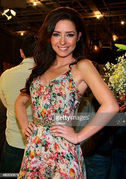 Ariadne Diaz attends to a mass before the start of Televisas'a new soap opera La Malquerida at Televisa San Angel on March 24 2014 in Mexico City...