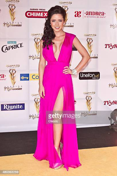 Ariadne Diaz during TV y Novelas Red Carpet at Televisa on March 23 2014 in Mexico City Mexico