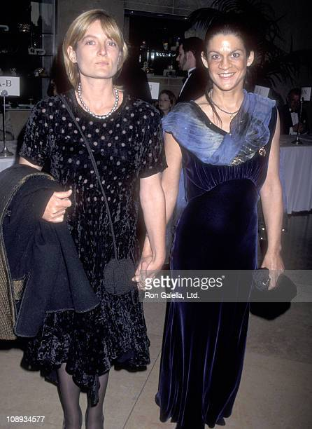 Ariadne Getty and Aileen Getty attend the Artists Rights Foundation Honors Milos Forman on April 18 1997 at Beverly Hilton Hotel in Beverly Hills...