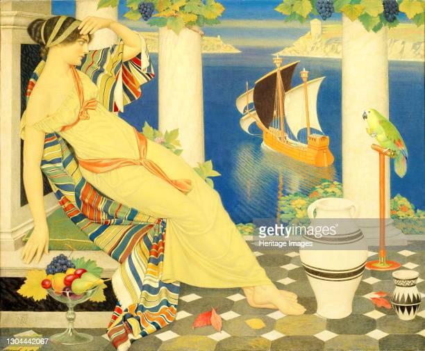 Ariadne in Naxos, 1925. Artist Joseph Edward Southall.