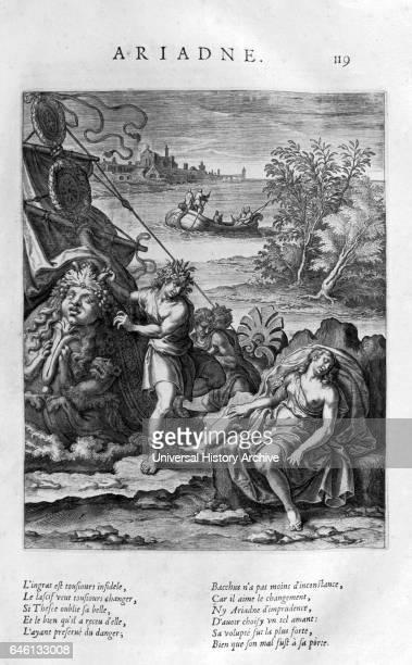 Ariadne Plate from Les Images Ou Tableaux De Platte Peinture Des Deux Philostrates Sophistes Grecs by Blaise de Vigenare Paris 1615 Engraving circa...