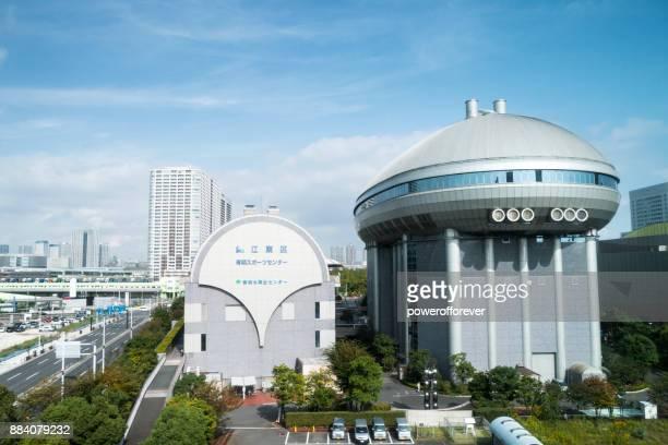 Ariake Sports Center in the Koto Ward of Tokyo, Japan