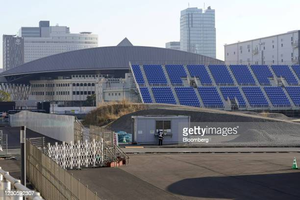 Ariake Tennis Park, left, and Ariake Urban Sports Park, the venue for BMX and skateboarding events at the now-postponed Tokyo 2020 Olympic Games, in...