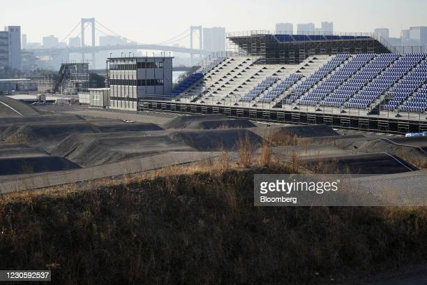 Ariake Urban Sports Park, the venue for BMX and skateboarding events at the now-postponed Tokyo 2020 Olympic Games, in Tokyo, Japan, on Thursday,...