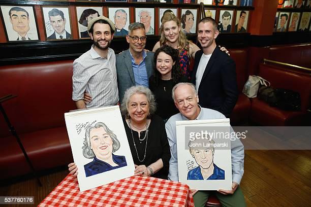 Arial Moayed Joe Mantello Sarah Steele Kathryn BeckSteven Karob Reed Birney and Jayne Houdyshell attend Sardi's caricature unveiling at Sardi's on...