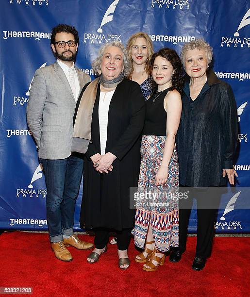 Arial Moayed Sarah Steele Kathryn Beck and Jayne Houdyshell attends 2016 Drama Desk Awards at Anita's Way on June 5 2016 in New York City
