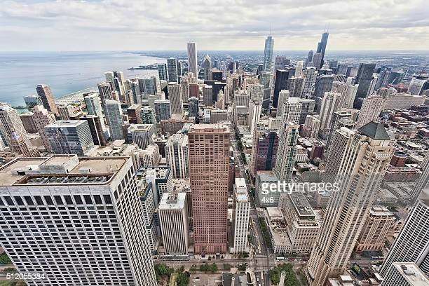 Arial view of buildings in Chicago