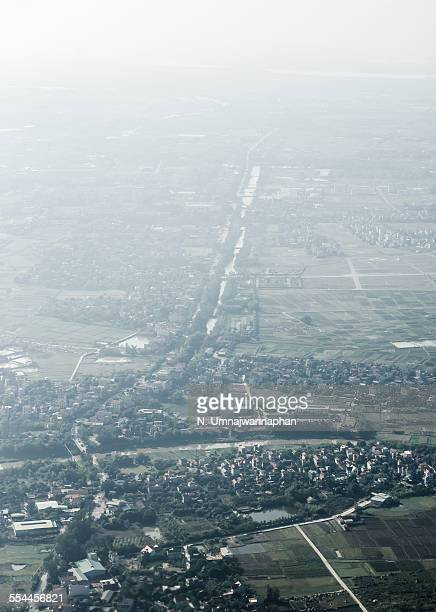 Arial view of city of Hanoi