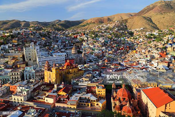 arial view of guanajuato, mexico - guanajuato stock pictures, royalty-free photos & images