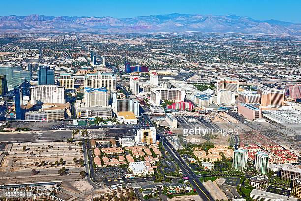 Arial View of Las Vegas Hotels, Nevada USA