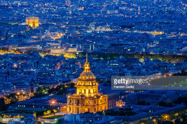 Arial View Of 'Les Invalides' and 'Arc de Triomphe'