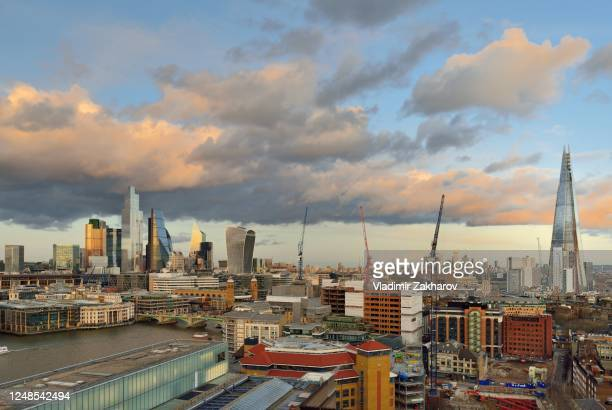 arial view of london 2020 - 2020 stock pictures, royalty-free photos & images