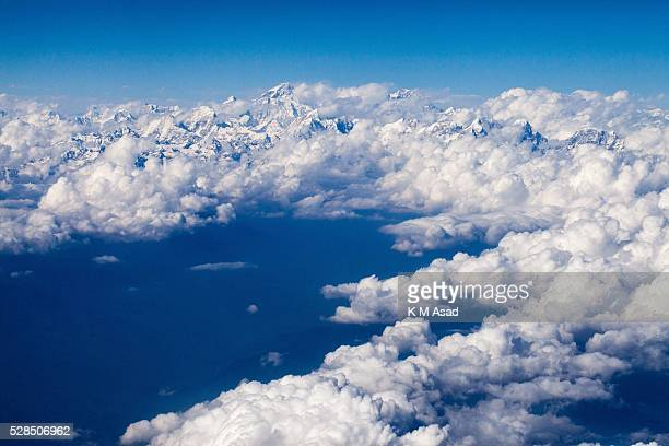 KATHMANDU BAKTOPUR KATHMANDU NEPAL Arial view of Mount Everest after a massive earthquake magnitude78 hit the country on 25 April 2015 in Kathmandu...