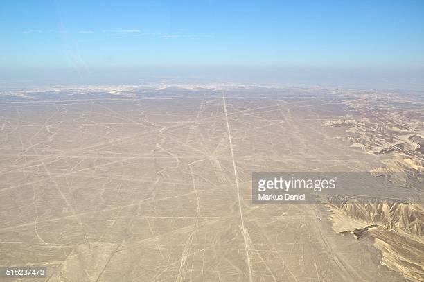 Arial view of Nazca Plane, Nazca, Peru