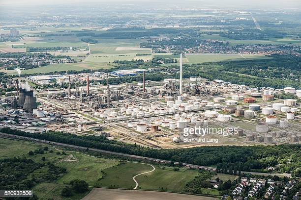Arial View of refinery, Germany