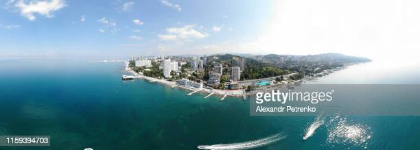 arial view, sochi, russia - sochi stock pictures, royalty-free photos & images