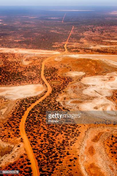 Arial view to the Australian Desert