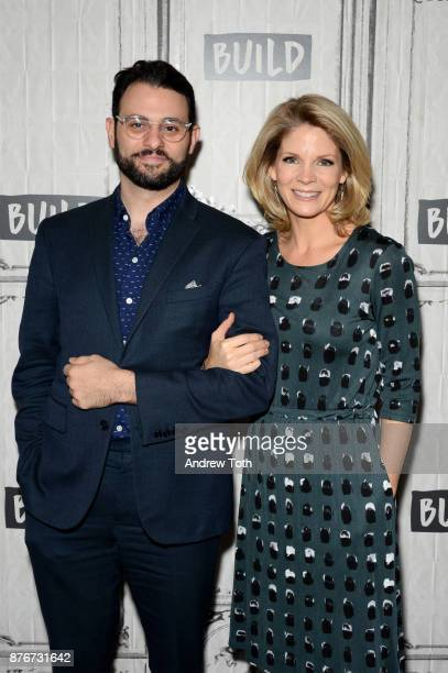 Arian Moayed and Kelli O'Hara attend the Build Series to discuss 'The Accidental Wolf' at Build Studio on November 20 2017 in New York City