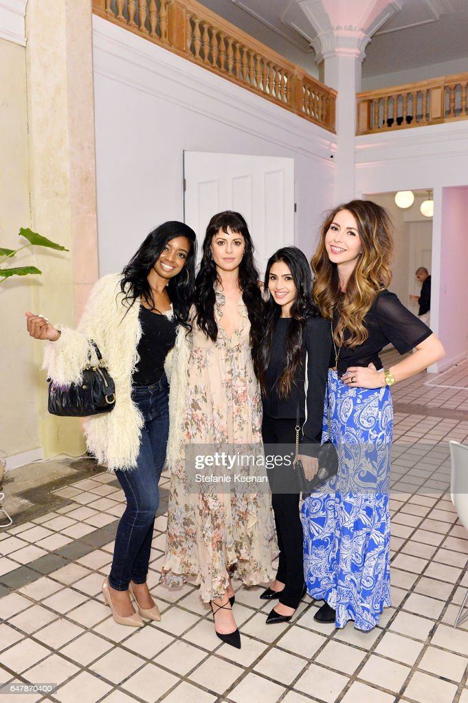 Arian Simone, Sophia Amoruso, Payal Kadakia and Promise Tangeman attended the Girlboss + American Express Platinum Collective Dinner on March 3, 2017 in Los Angeles, California.