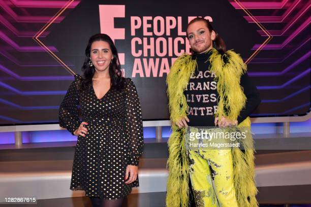 """Ariana Barborie receives the """"German Influencer of 2020"""" and Riccardo Simonetti receives the """"German Personality of 2020"""" as part of the """"E! People's..."""