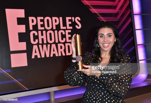 "Ariana Barborie receives the ""German Influencer of 2020"" as part of the ""E! People's Choice Awards"" on October 29, 2020 in Munich, Germany."