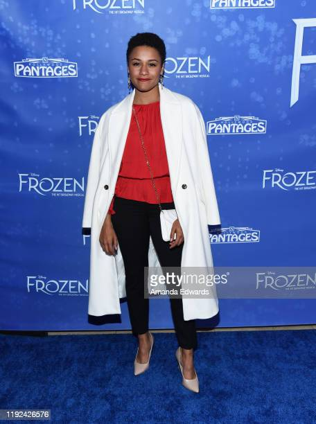 Ariana DeBose arrives at the LA Premiere Of Frozen at the Hollywood Pantages Theatre on December 06 2019 in Hollywood California