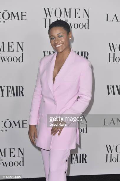 Ariana DeBose arrives at Vanity Fair and Lancôme Women In Hollywood Celebration at Soho House on February 06 2020 in West Hollywood California