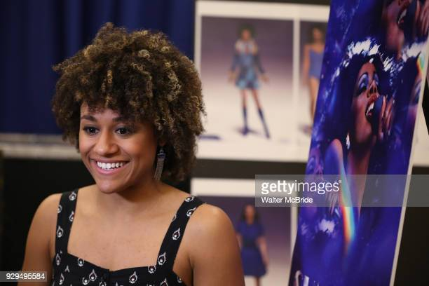 Ariana DeBose attends the press Meet Greet for 'Summer The Donna Summer Musical' on March 8 2018 at the New 42nd Street Studios in New York City