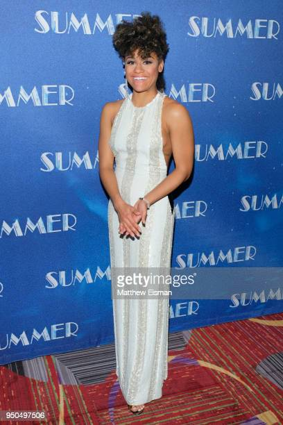 Ariana DeBose attends the Summer Broadway opening night after party at New York Marriott Marquis on April 23 2018 in New York City