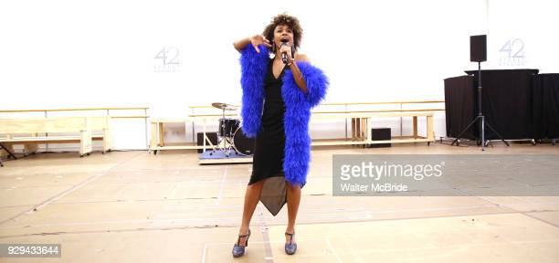 Ariana DeBose during the press presentation for 'Summer The Donna Summer Musical' on March 8 2018 at the New 42nd Street Studios in New York City