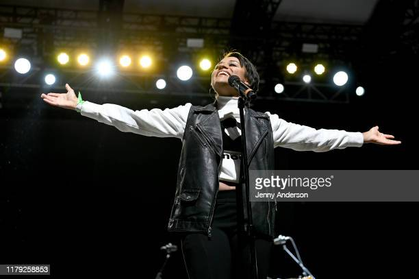 Ariana DeBose performs onstage during the 5th Annual Elsie Fest Broadway's Outdoor Music Festival on October 05 2019 in New York City