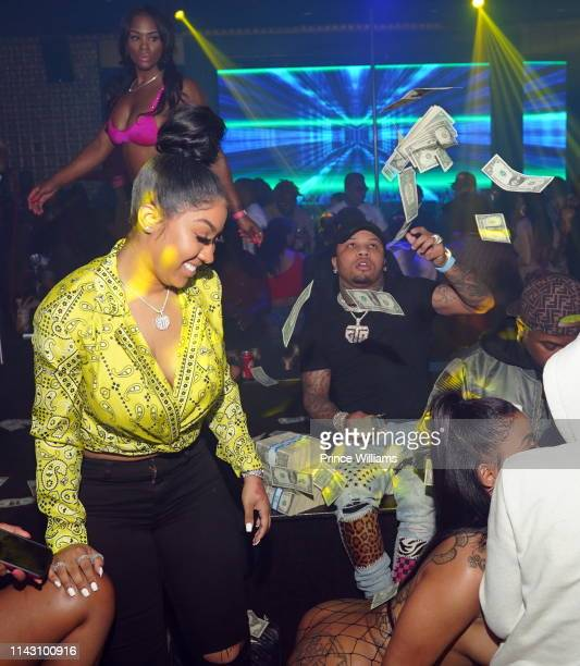 Ariana Fletcher and Gervonta Davis attend a party at Allure on April 16 2019 in Atlanta Georgia