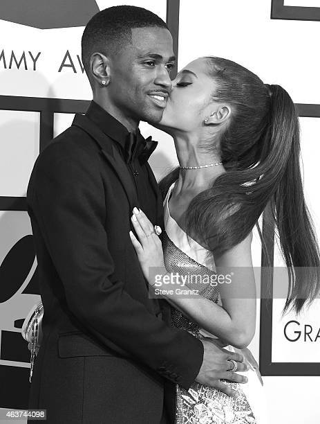 Ariana Grande and Big Sean arrives at the The 57th Annual GRAMMY Awards on February 8 2015 in Los Angeles California