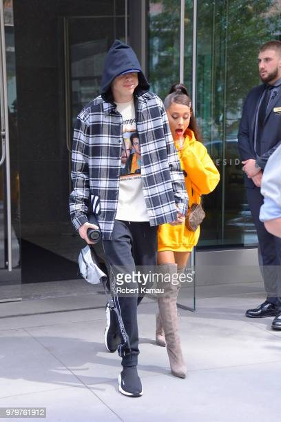Ariana Grande and Pete Davidson on June 20 2018 in New York City