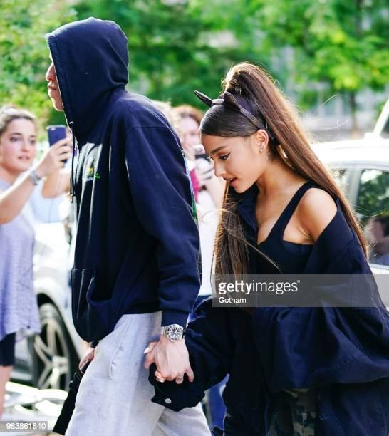 Ariana Grande and Pete Davidson out and about on June 25 2018 in New York City
