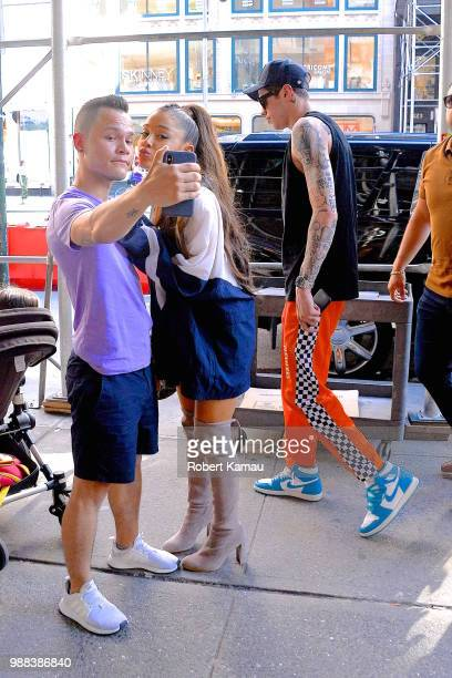 Ariana Grande and Pete Davidson seen in Manhattan on June 29 2018 in New York City