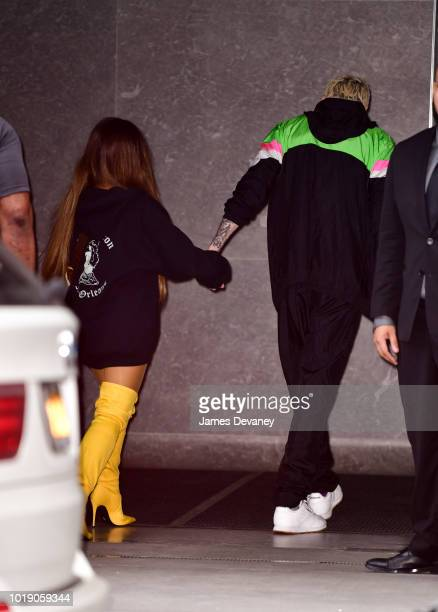 Ariana Grande and Pete Davidson seen on the streets of Manhattan on August 18 2018 in New York City
