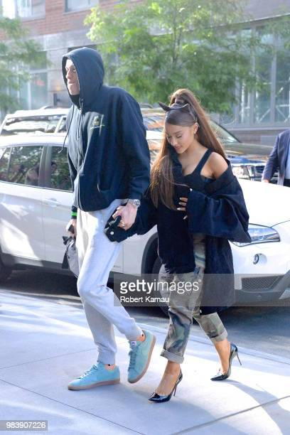 Ariana Grande and Pete Davidson seen out and about in Manhattan on June 25 2018 in New York City