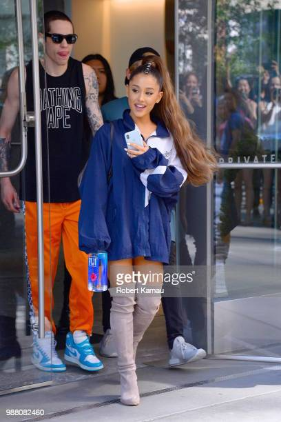 Ariana Grande and Pete Davidson seen out and about in Manhattan on June 29 2018 in New York City
