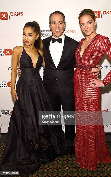 Ariana Grande and President Republic Records Monte Lipman and CoFounder DKMS Katharina Harf attend the 10th Annual Delete Blood Cancer DKMS Gala at...