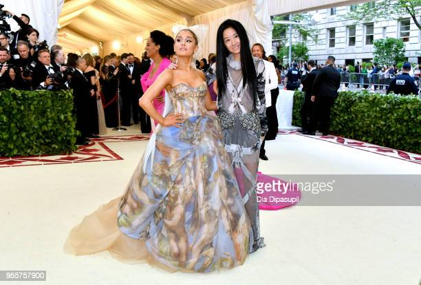 Ariana Grande and Vera Wang attend the Heavenly Bodies Fashion The Catholic Imagination Costume Institute Gala at The Metropolitan Museum of Art on...