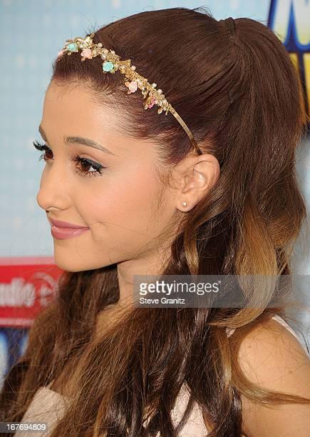 Ariana Grande arrives at the 2013 Radio Disney Music Awards at Nokia Theatre LA Live on April 27 2013 in Los Angeles California
